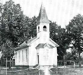 The first permanent home of the congregation 1879-1909.