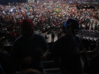 Crowd on Alamodome floor