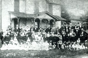 The congregation in 1894.  (Courtesy Mrs. Eva Clemmer.)