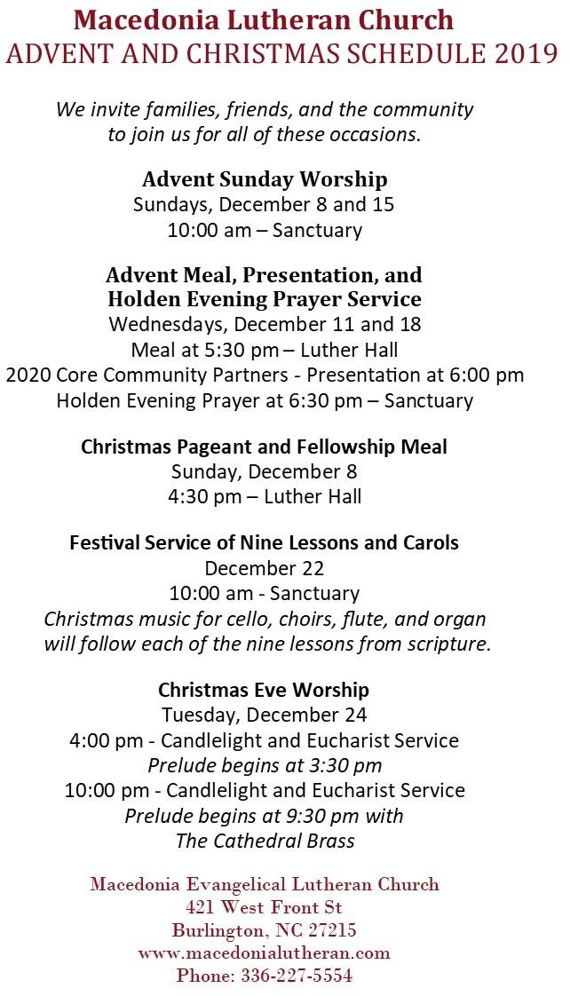 Advent Schedule 2019-6