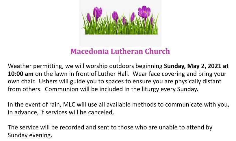 May 2021 Outdoor Worship